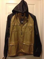 NIKE NSW Zonal Windshell Running Jacket Hood Gold 413876-230 U.S Men Medium $200