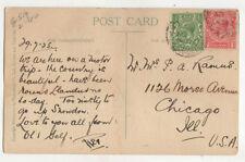 Mr & Mrs PA Ramus Morse Avenue Chicago USA 1925 US010