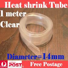 Heat Shrink tube Heatshrink tubing Sleeving Clear Diameter=14mm 1meter  AU STOCK