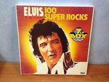 Elvis 100 Super Rocks 7 LP Vinyl Record Box Set with Poster