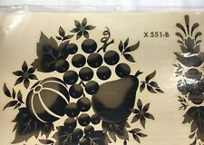 Home Decor Decals Gold Black Fruit Floral Autumn Vintage Meyercord Nip X 551-B