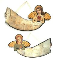 "Christmas Angel Wall Signs 13"" Cross and Heart Set of 2 By Teresa Kogut"