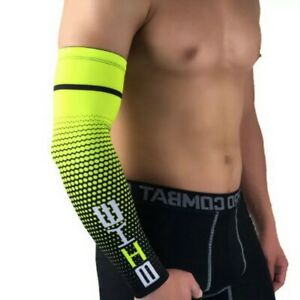 Men Arm Sleeves Cover Basketball Cycling Sport UV Sun-Protect Cooling Cover uk