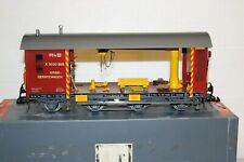 MAGNUS HOEHNE BRASS G SCALE SWISS WORK CRANE GENERATOR CAR - GERMAN HANDMADE