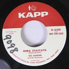 """Pop Promo 45 Vic Schoen - Hora Staccato / """"A"""" Stands For """"A"""" On Kapp"""
