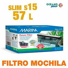 Filtro MOCHILA Slim  Marina 15 caja blanca acuario gambario EXTERIOR CASCADA