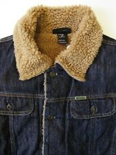 DIESEL GREGG FUR MEN'S DENIM SHERPA JACKET MEDIUM DARK BLUE LJKTA884