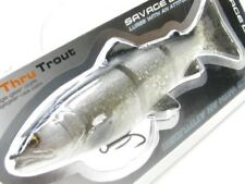 "Savage Gear Dirty Silver 3D Line Thru Trout 6"" Slow Sink Sinking Fishing Lure"