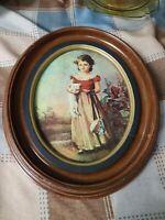 Vintage Oval Picture Ornate Frame