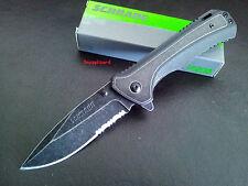 "Schrade 4.6""Liner Lock Drop Point SCH501S Folding Pocket Knife,Hunting,Bush,Work"