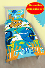 NEW FINDING NEMO DORY SINGLE DUVET QUILT COVER SET BOYS GIRLS KIDS FISH BED