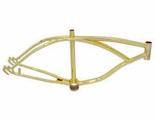 "Custom 20"" Steel Bicycle Frame Lowrider Gold Bike Frame Part"