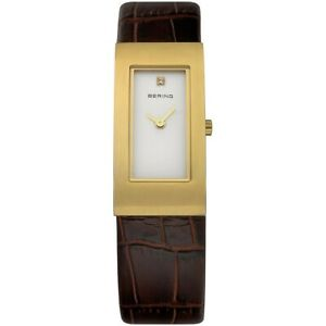 Bering Ladies Watch Wristwatch Slim Classic - 10817-534-1 Leather
