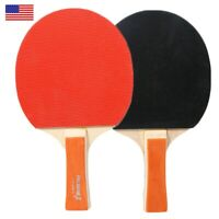 2x Table Tennis Paddle Ping Pong Racket Bat with Balls Game Traning Gear Set US