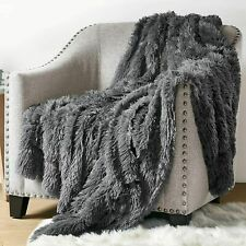 Fluffy Throw Blankets for Couch Sofa Long Faux Fur Blanket for Bedroom AU Stock