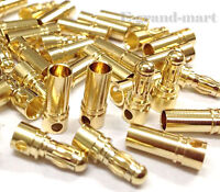 40 Pairs 3.5mm Gold Bullet Connector Plug Male & Female for RC Battery ESC Motor