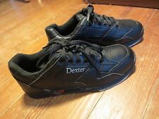 NICE DEXTER Ricky II Black Leather Bowling Shoes Sz 7.5