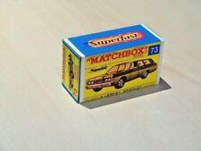 MATCHBOX SUPERFAST NO.73A MERCURY COMMUTER STATION WAGON CUSTOM DISPLAY BOX ONLY