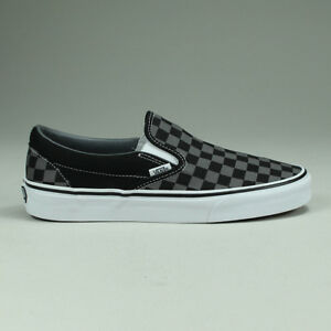 Vans Classic Slip On Bi Pewter Check Trainers in UK Sizes 4,5,6,7,8,9,10,11,12