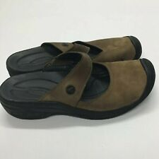 Keen Saratoga Women's Size 10 Mary Jane Sandal Shoes Brown Suede mule clog