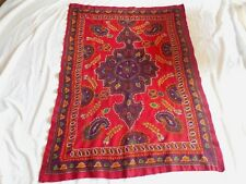 PERSIAN KERMAN HAND EMBROIDERY SUZANI WOOL PATEH NEEDLEWORK TEXTILE TAPESTRY