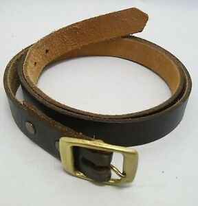 handmade CIL size 37 Estes PARK Colorado LEATHER belt BRASS buckle