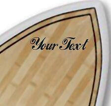 2X CUSTOM VINYL DECAL sticker surf surfboard board CHOOSE COLOUR & FONT