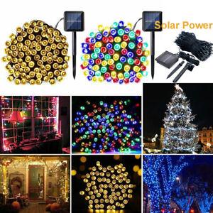 Solar Fairy String Lights 100-500 LED Outdoor Waterproof Garden Xmas Party Decor