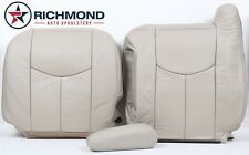 03 04 05 Tahoe -Driver Bottom Lean Back Armrest COMPLETE Leather Seat Covers Tan