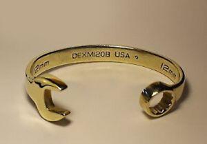 Men's Snap-on Spanner Bangle Bracelet, 9ct Gold Dipped 65g