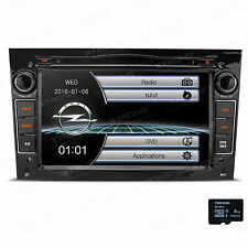 "7"" UI Autoradio GPS DVD 2 DIN FÜR OPEL Zafira B Astra H Corsa D Vivaro Schwarz"