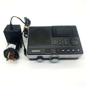 Sangean DAR-101Digital Stereo Recorder MP3SD USB/Dual Port Micro Black/Silver
