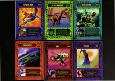 "Lot(6)2003 SI for Kids ""Game Ad"" MARVEL GENIO POWER Cards, Spider Man/Wolverine+"