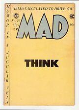 MAD #23 LAST ISSUE COMIC-SIZED ISSUE JACK DAVIS * WALLY WOOD * FINE 6.0 1955 E.C