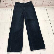 Lands End Boy Corduroy Pants Size 16 Dark Blue Casual Adjustable Waist - C159