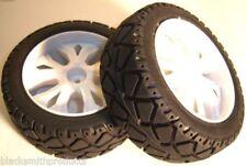 Neumáticos, llantas y bujes de color principal blanco para vehículos de radiocontrol 1:10