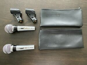 Shure PE56D & 565SD Unisphere I Microphone Set w/ Clips Pouches Tested to Work