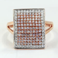 tcw Fancy Pink Diamonds and White Diamonds Right Hand Ring Open Book Design 0.71
