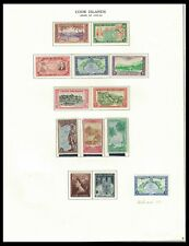 COOK ISLANDS 1949-53 ISSUES ON PAGE (LHM/MNH) *CLEAN & FRESH*