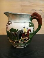 Vintage Pitcher With Fox Hunting Scene - Horse