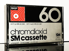 BASF 1975 Chromdioxid SM 60 small window high position MC Kassette tape cassette