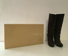 SERGIO ROSSI Woman Boots Color Brown SUEDE Size 36.5 ORIGINAL BOX