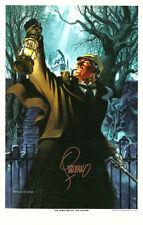 Jim Steranko SIGNED Art Print Sherlock Holmes Hound of the Baskervilles Revenge