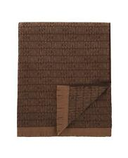 "NWT MOSCHINO 100% WOOL, Brown throw blanket, 60"" x 70""  MADE IN ITALY, $495"