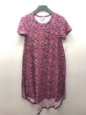LuLaRoe Carly Pink Floral Pattern Dress SUPER SOFT XXS