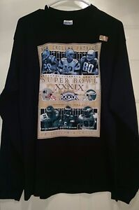 Gildan NWT Super Bowl 2005 New England Patriots Philadelphia Eagles Shirt Size L