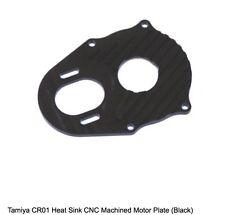 STRC Tamiya CR01 CNC Aluminum Center Transmission Motor Plate BLACK Crawler