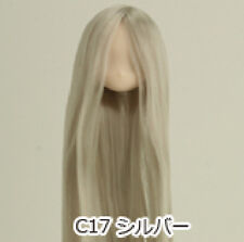 Obitsu Doll 11cm hair implantation head for Whity body (11HD-F01WC17) Silver