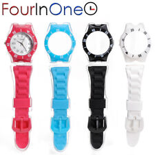 Wristwatch Silicone with 4 Customizable Straps four in one
