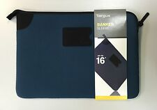 "Targus 16"" Banker Sleeve notebook ultrabook laptop case TSS24503AU Blue / Black"